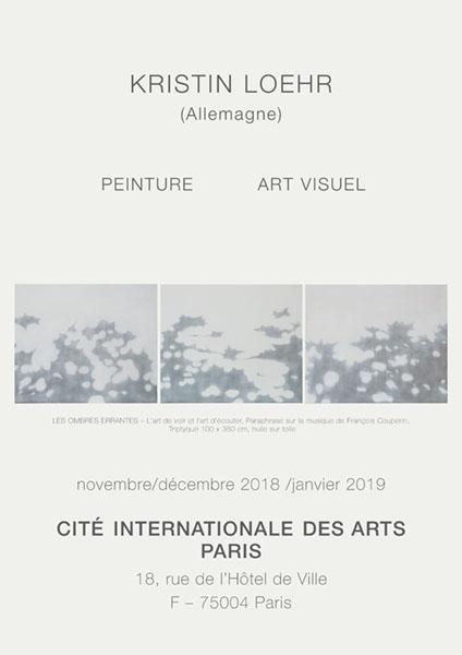 LES OMBRES ERRANTES – L'art de voir et l'art d'écouter – Paraphrase sur la musique de François Couperin, Triptyque 100 x 360 cm, huile sur toile