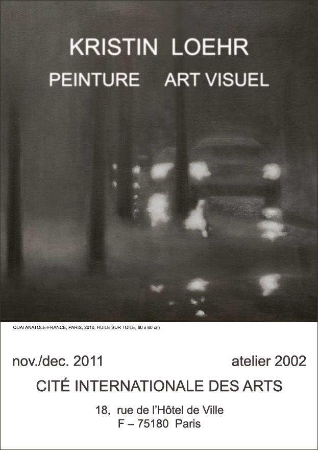 Ausstellung anlässlich eines offiziellen Besuchs des deutschen Kulturstaatsministers am 8. Dezember in der Cité Internationale des Arts, Paris